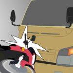 Diduga Mengantuk Pengendara Motor Tabrak Truck